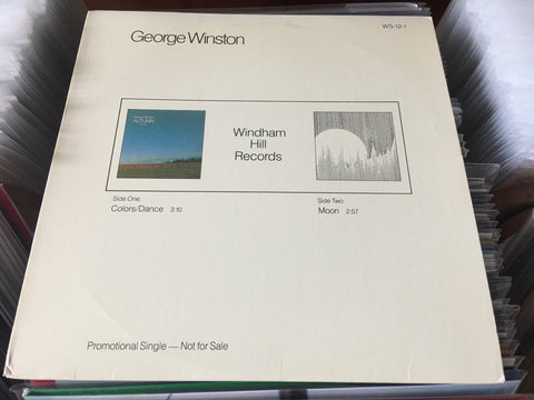 "George Winston - Colors/Dance 12"" Promo Single 33⅓rpm (Out Of Print) (Graded:NM/NM)"