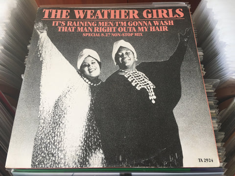 "The Weather Girls - It's Raining Men 12"" Single 45rpm (Out Of Print) (Graded:NM/VG)"