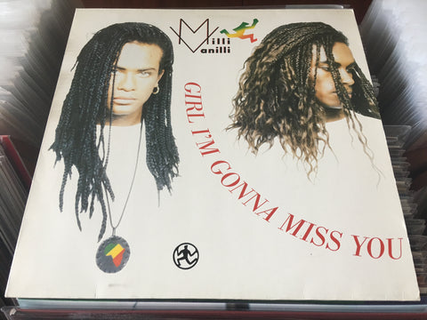 "Milli Vanilli - Girl I'm Gonna Miss You 12"" Maxi-Single 45rpm (Out Of Print) (Graded:NM/EX)"