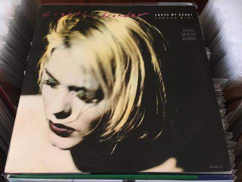 "Eighth Wonder - Cross My Heart 12"" Maxi-Single 45rpm (Out Of Print) (Graded:NM/VG)"