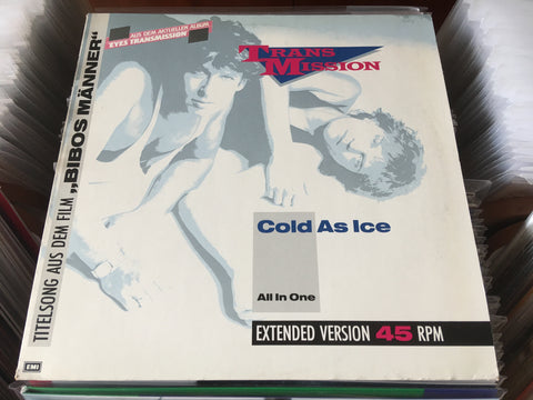 "Transmission - Cold As Ice 12"" Maxi-Single 45rpm (Out Of Print) (Graded:NM/EX)"
