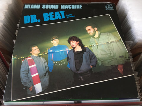 "Miami Sound Machine - Dr. Beat (Long Version) 12"" Maxi-Single 45rpm (Out Of Print) (Graded:EX/EX)"
