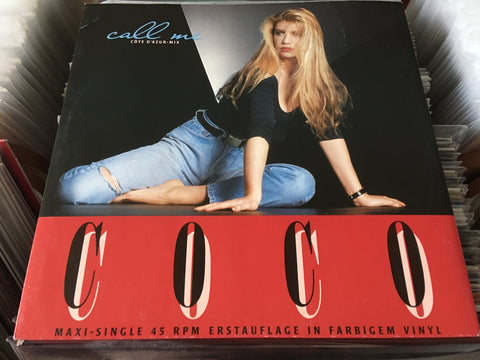 "Coco - Call Me (Côte D'Azur-Mix) 12"" Maxi-Single 45rpm (Out Of Print) (Graded:EX/EX)"