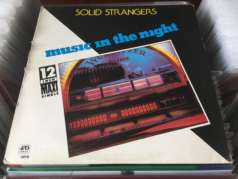"Solid Strangers - Music In The Night 12"" Maxi-Single 33⅓rpm (Out Of Print) (Graded:NM/VG)"