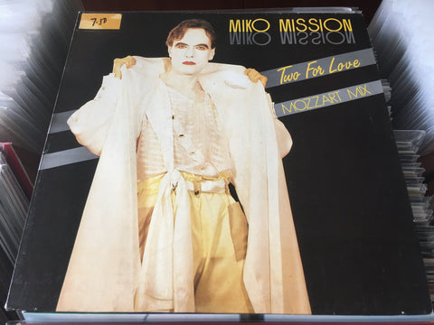 "Miko Mission - Two For Love (Mozzart Mix) 12"" Maxi-Single 45rpm (Out Of Print) (Graded:NM/EX)"