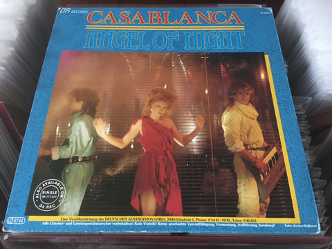 "Casablanca - Angel Of Night 12"" Maxi-Single 45rpm (Out Of Print) (Graded:NM/EX)"