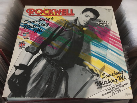 "Rockwell - Somebody's Watching Me 12"" Maxi-Single 45rpm (Out Of Print) (Graded:NM/EX)"