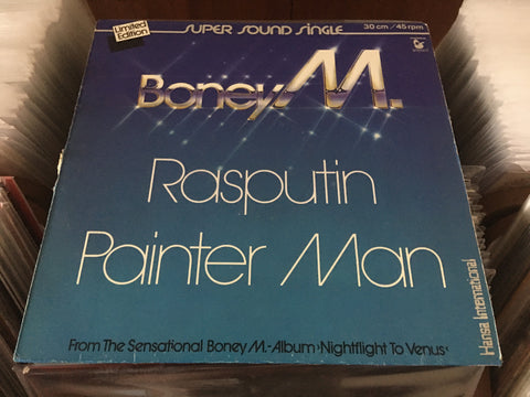 "Boney M. - Rasputin / Painter Man 12"" Maxi-Single 45rpm (Out Of Print) (Graded:VG/VG)"