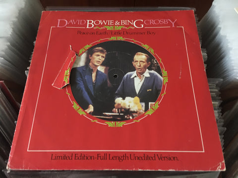 "David Bowie & Bing Crosby -  Peace On Earth / Little Drummer Boy 12"" Single 45rpm (Out Of Print) (Graded:VG/EX)"