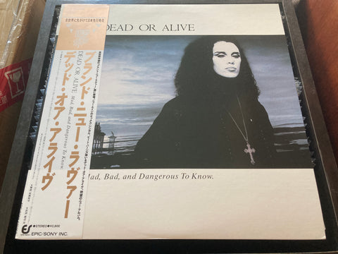 Dead Or Alive - Mad, Bad And Dangerous To Know CW/OBI LP 33⅓rpm (Out Of Print) (Graded: NM/NM)