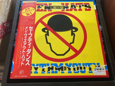 Men Without Hats - Rhythm Of Youth CW/OBI LP 33⅓rpm (Out Of Print) (Graded: EX/EX)