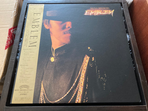 Shinji Tanimura / 谷村新司 - Emblem CW/OBI N/Lyrics LP 33⅓rpm (Out Of Print) (Graded:NM/NM)