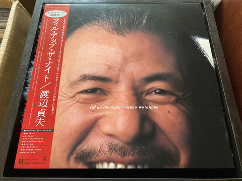 Sadao Watanabe / 渡辺貞夫 - Fill Up The Night CW/OBI LP 33⅓rpm (Out Of Print) (Graded: NM/NM)