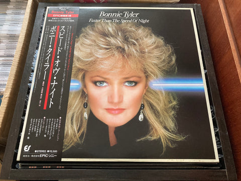 Bonnie Tyler - Faster Than The Speed Of Night CW/OBI LP 33⅓rpm (Out Of Print) (Graded: NM/NM)