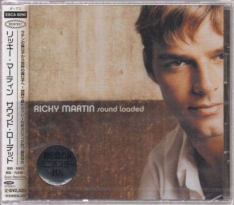 Ricky Martin - Sound Loaded CW/OBI Sample (Out Of Print) (Graded:S/S)