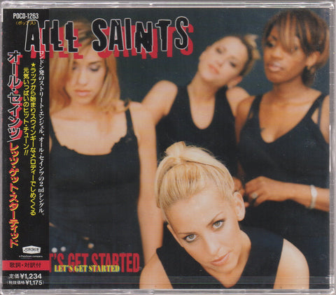 All Saints - Let's Get Started Maxi-Single Sample (Out Of Print) (Graded:S/S)
