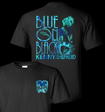 Blue On Black T's