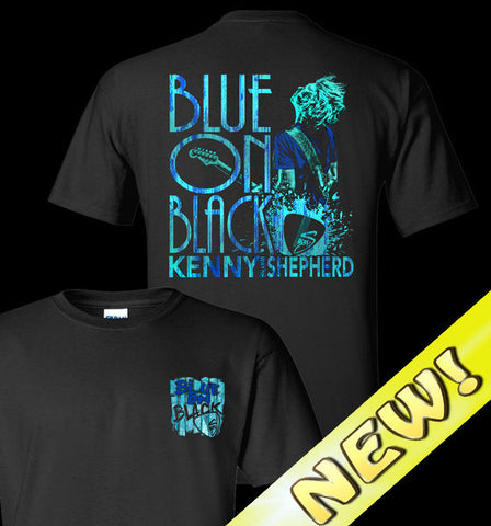 New Blue On Black T-Shirt