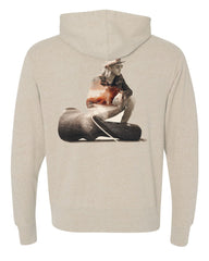 "KWS - ""The Traveler"" Tan Medium Weight Hoodie"