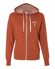 """The Traveler"" Burnt Orange Medium Weight Hoodie"