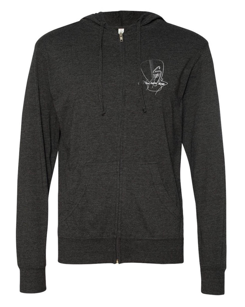 KWS Logo - Grey Multi Guitar Light Weight Hoodie