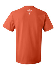 """The Traveler"" Orange Mens T-shirt"