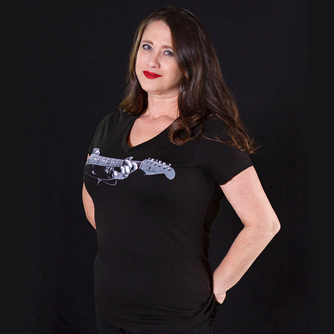 "G Chord Signature ""Ladies"" Bella brand  V Neck T-Shirt"