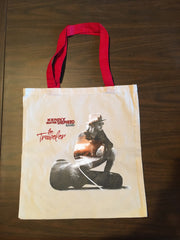 The Traveler Canvas Tote with Red Handles