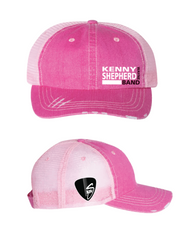 Pink washed out mesh Logo Baseball Cap
