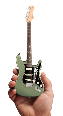 Autographed Miniature Replica of Kenny's Sage Green Strat