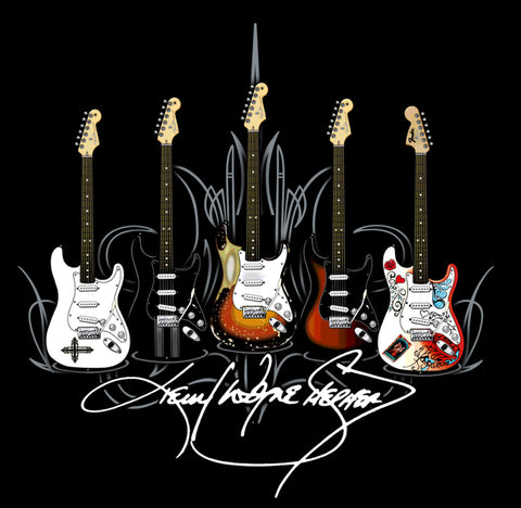 KWS Signature Series - Black Guitars T-Shirt