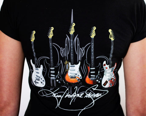 LADIES V-neck Multi Guitars T-Shirt