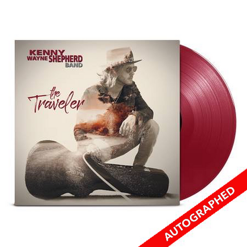 The TRAVELER - RED Vinyl LP - SIGNED