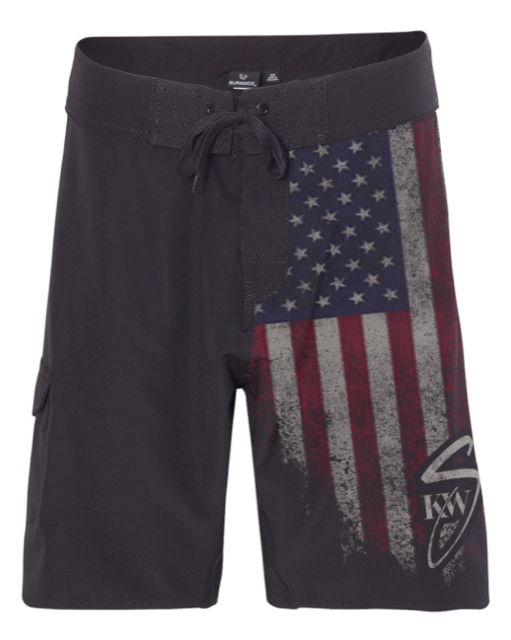 KWS Flag Board Shorts