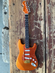 Autographed Miniature Replica of Kenny's Copperboy Strat