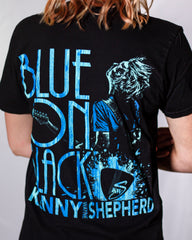 Blue On Black T-Shirt