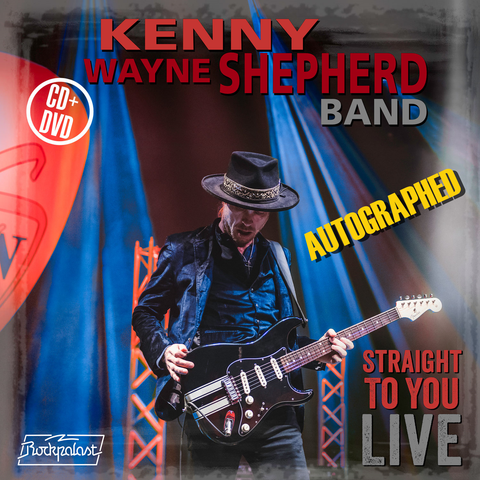 Straight To You LIVE Autographed  Kenny Wayne Shepherd CD/DVD concert video