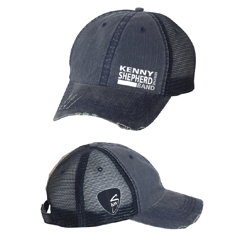Navy washed out mesh Logo Baseball Cap