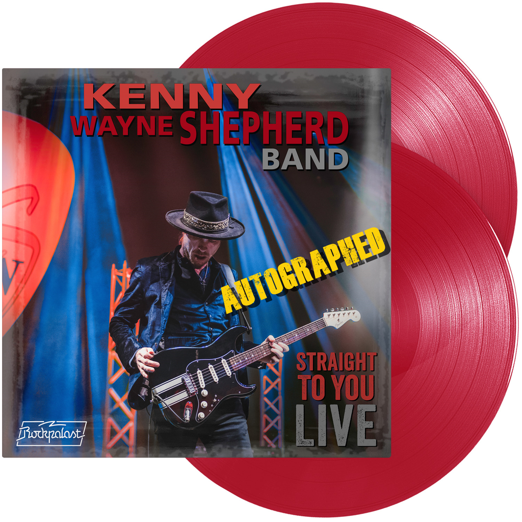 Straight To You LIVE autographe Kenny Wayne Shepherd Red Transparent Vinyl LP