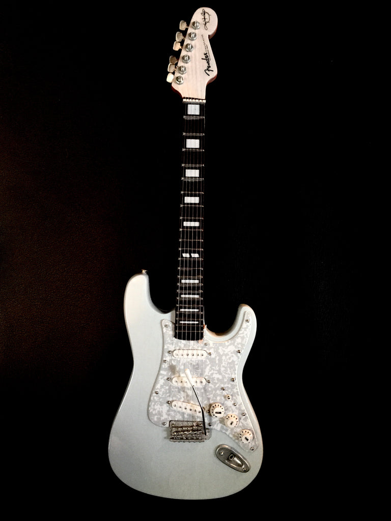 Autographed Miniature Replica of Kenny's Sonic Blue Signature Series Strat