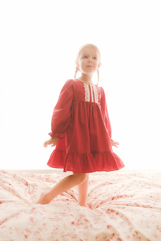 Holiday Loungewear in Red Lawn