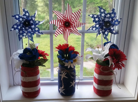 Distressed Patriotic Mason Jar Tutorial