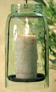 Hanging Mason Jar Pillar Holder