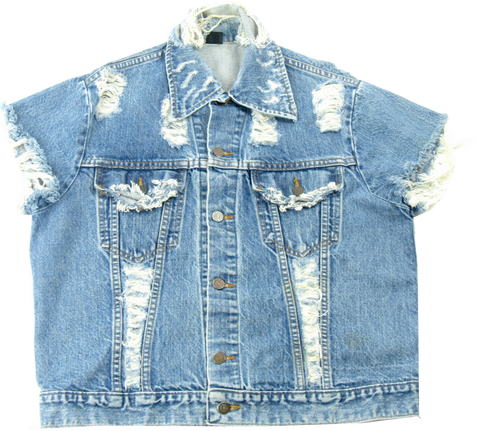 Vintage Destroyed Denim Jacket
