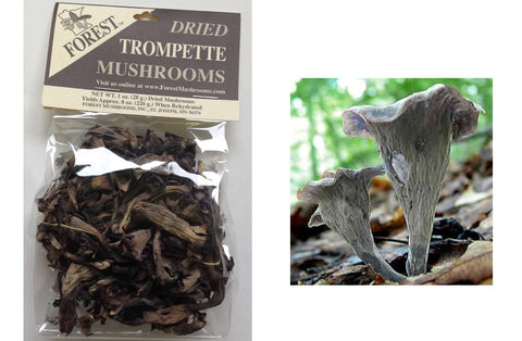 Dried Black Trumpet Mushrooms from France