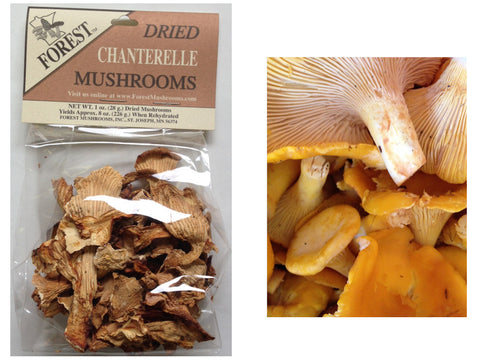 Dried Gold Chanterelles