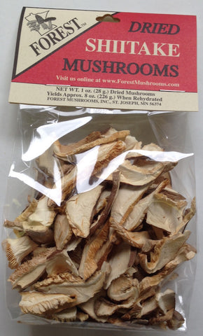 Dried Shiitake Mushrooms, sliced