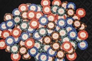 Casino Royale Poker Chips Set - 14g 500 Piece Numbered Poker Set & Accessories