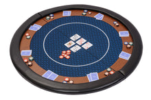 Compact Folding Poker Table Top in Blue Speed Cloth with Case - 120cm