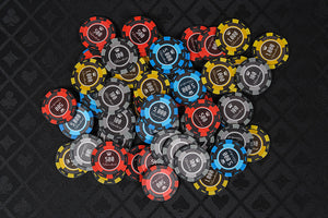 New Orleans Poker Chips Set - 500 Piece Numbered Poker Set (Free Accessories) - SALE - Was £79.99